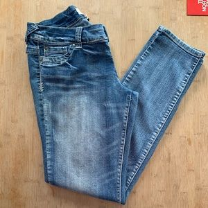 MAURICES Pull On Denim Jegging Jeans Flap Pockets